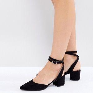 Asos Raid Ankle Wrap Heeled Shoes